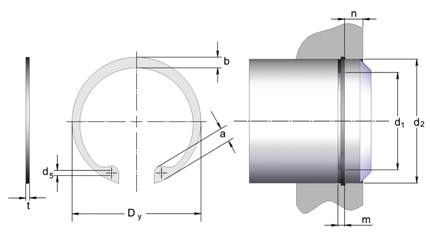 Стопорные кольца для валов DIN 472 производства СТАМО