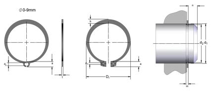 Кольца стопорные DIN 471 производства STAMO