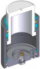 Инструментальная газовая пружина c уплотненным штоком и максимальным усилием