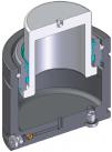 Инструментальная газовая пружина c максимальным усилием при минимальной высоте