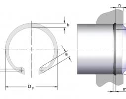 Стопорные кольца для валов DIN 472 из каталога СТАМО